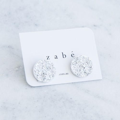 Large Silver Nugget Studs