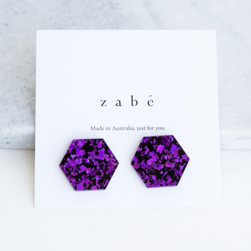 Lavender Pop Stud Earring