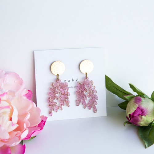 Rose Peony Dangle Earrings