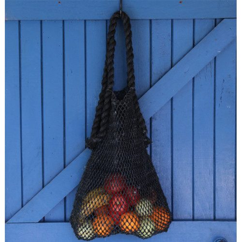 black hemp string bag